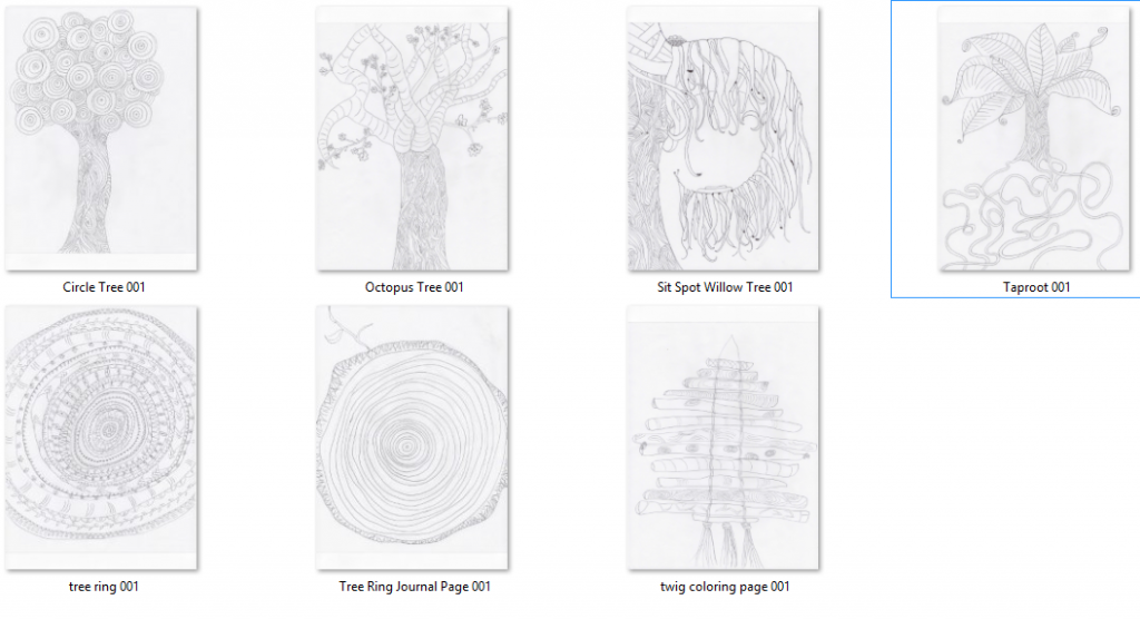 Zen Tree Coloring Pages: Free Gift Inside! - Forest Bathing Central